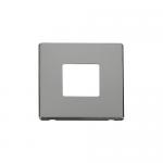 Definity chrome 1 gang 2 aperture cover plate