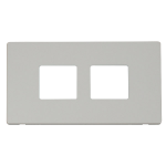 Definity white 2x2 aperture cover plate