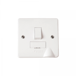 Mode switched fused connection unit with flex outlet