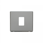 Definity chrome cover plate for 1 gang light switch