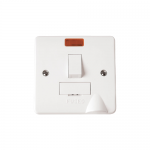 Mode 13A switched fused connection unit with neon and flex outlet