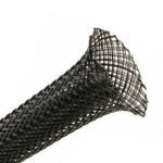 15mm black braided cable sleeve