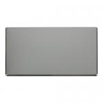 Definity chrome 2 gang blank plate
