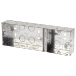 Galvanised back boxes - Dual 1 + 2
