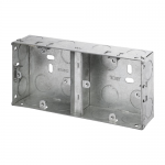 Galvanised back boxes - Dual 1 + 1