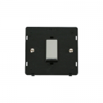 Definity 45A double pole switch black insert - polished chrome