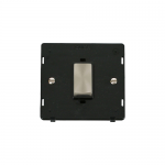 Definity 45A double pole switch black insert - brushed stainless