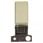 Minigrid 2 way switch module - Polished brass