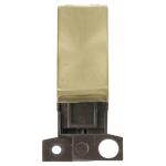 Minigrid 2 way switch module - Satin brass