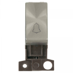 "Minigrid retractive switch marked with ""BELL"" symbol - Brushed stainless"