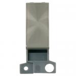 Minigrid blanking module - Brushed stainless