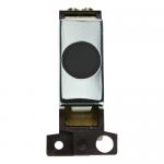 Minigrid 20A flex outlet module - Polished chrome, Black