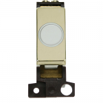 Minigrid 20A flex outlet module - Polished brass, White