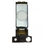 Minigrid 20A flex outlet module - Polished chrome, White