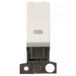 Minigrid 13A 2 pole switch module marked - Polar white, Oven