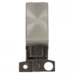 Minigrid 2 way switch module - Brushed stainless