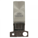 Minigrid 13A 2 pole switch module marked - Brushed stainless, Dishwasher