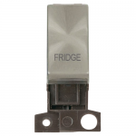 Minigrid 13A 2 pole switch module marked - Brushed stainless, Fridge