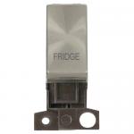 Minigrid 13A 2 pole switch module marked - Brushed stainless, Fridge