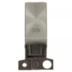 Minigrid 13A 2 pole switch module marked - Brushed stainless, Oven