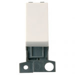 Minigrid 2 way retractive switch module - Polar white