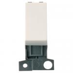Minigrid 2 way retractive switch module - Polar white