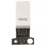 Minigrid 13A 2 pole switch module marked - Polar white, Fridge