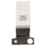 Minigrid 13A 2 pole switch module marked - Polar white, Tumble dryer