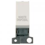 Minigrid 13A 2 pole switch module marked - Polar white, Waste disposal