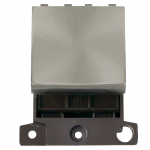 Minigrid 32A double pole switch module (double width) - Brushed stainless