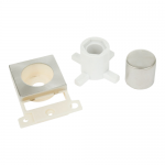 Minigrid dimmer mounting kit (double width) - Brushed stainless