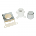 Minigrid dimmer mounting kit (double width) - Polished chrome