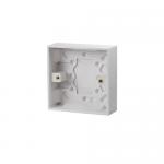 Pattress back box - Polar (square), 1 gang 25mm