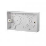 Pattress back box - Polar (square), 2 gang 25mm