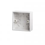 Pattress back box - Polar (square), 1 gang 35mm