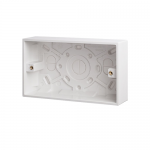 Pattress back box - Polar (square), 2 gang 35mm