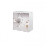Pattress back box - Polar (square), 1 gang 47mm