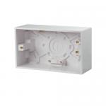 Pattress back box - Polar (square), 2 gang 47mm