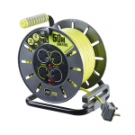4 gang 50 metre extension cable reel