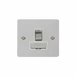 Define polished chrome switched fused connection unit - white inserts