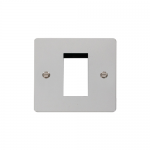 Define polished chrome 1 gang plate for 1 media module