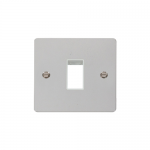 Define polished chrome 1 gang 1 aperture switch plate - white inserts