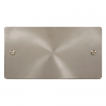 Define brushed stainless 2 gang blank plate