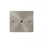 Define brushed stainless single coax point - white inserts