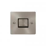 Define brushed stainless 3 pole fan isolator - black insert