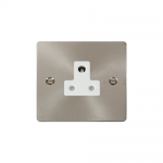 Define brushed stainless 5A socket - white inserts