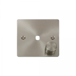 Define brushed stainless 1 gang dimmer plate and knob only. ** this item requires a dimmer module to complete **