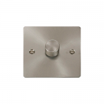 Define brushed stainless 1 gang 2 way dimmer (400w)
