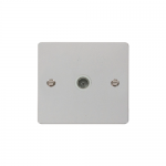 Define polished chrome single coax point - white inserts