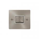 Define brushed stainless 3 pole fan isolator - white insert